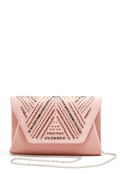 New Look Rita Structure Clutch Sheel Pink Bubbleroom.fi