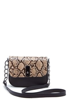 New Look Samira Snake Saddle Bag Black Pattern Bubbleroom.fi