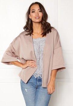 New Look Satin Kimono Jacket Shell Pink Bubbleroom.fi
