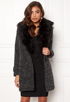 New Look Shawl Fake Fur Jacket Black Bubbleroom.fi