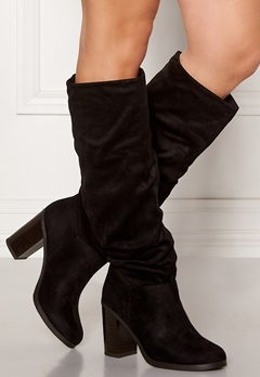 New Look Slouch High Leg Boots Black Bubbleroom.fi