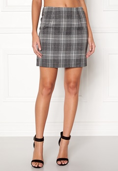 New Look Sparkle Check Mini Skirt Light Grey Bubbleroom.fi