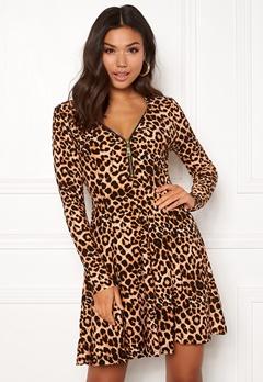 New Look T Max Animal Swing Dress Brown Pattern Bubbleroom.fi