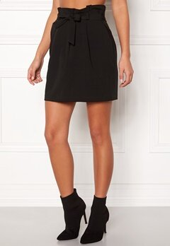 New Look Tie Waist Mini Skirt Black Bubbleroom.fi