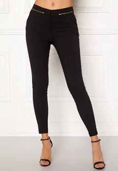 New Look Zip Bengaline Leggings Black Bubbleroom.fi