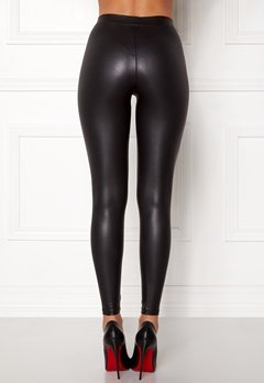 Pieces New Shiny Leggings Black Bubbleroom.fi