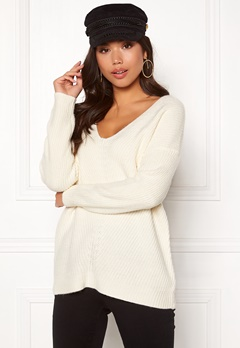 New Look Lattice Back Jumper Off White Bubbleroom.fi