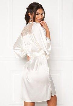 Nicole Falciani X Bubbleroom Nicole Falciani Bride Robe White Bubbleroom.fi
