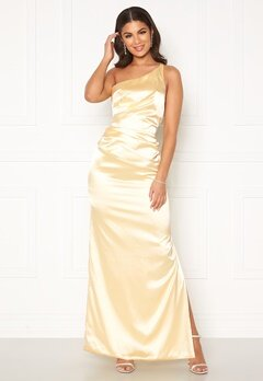 Nicole Falciani X Bubbleroom Nicole Falciani Pleat Gown Yellow Bubbleroom.fi