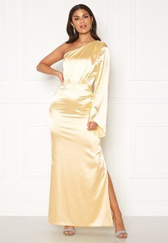 Nicole Falciani X Bubbleroom Nicole Falciani Satin Gown Gold-coloured Bubbleroom.fi