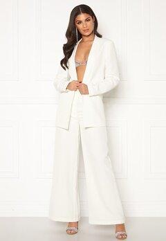 Nicole Falciani X Bubbleroom Nicole Falciani Suit Pants White Bubbleroom.fi