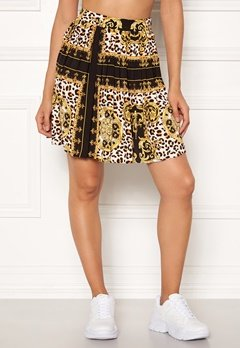 Rut & Circle Nicole Pleated Skirt Yellow Print Bubbleroom.fi