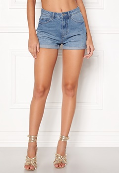 VERO MODA Nineteen HW Loose Shorts Light Blue Denim Bubbleroom.fi