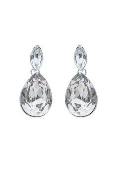 SNÖ of Sweden Noemi Small Drop Earrings Silver/Clear Bubbleroom.fi