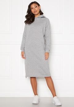 Noisy May Helene L/S Sweat Dress Light Grey Melange Bubbleroom.fi