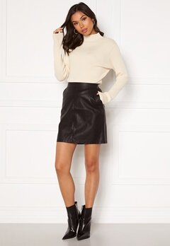 Noisy May Kelly NW PU Skirt Black Bubbleroom.fi