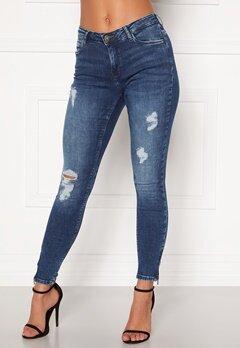 Noisy May Kimmy NW Ankle Jeans Medium Blue Denim Bubbleroom.fi