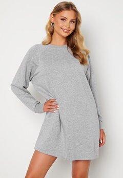 Noisy May Lupa L/S Sweat Dress Ligth Grey Melange Bubbleroom.fi