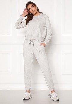 Noisy May Lupa NW Logo Pant Ligth Grey Melange Bubbleroom.fi