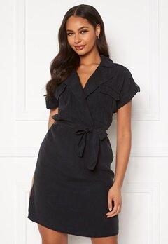 Noisy May Vera S/S Tencel Shirt Dress Black Bubbleroom.fi