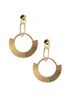 NORR by Erbs Nila Earrings Gold Bubbleroom.fi