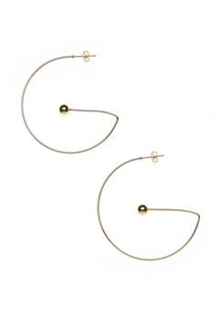 NORR by Erbs Virva Earrings Large Gold Bubbleroom.fi