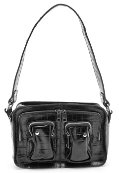 Nunoo Ellie Bag Croco Black Bubbleroom.fi