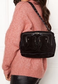 Nunoo Ellie New Suede Bag Black Bubbleroom.fi