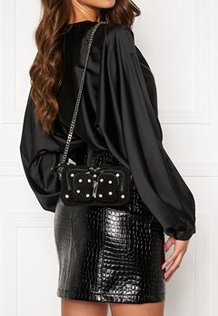Nunoo Helena Flash Leather Bag Black w.Diamonds Bubbleroom.fi