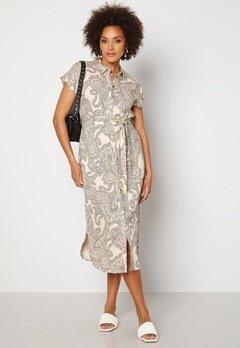 OBJECT Adilla S/S Dress Sandshell AOP Bubbleroom.fi