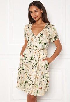 OBJECT Alba S/S Short Dress Sandshell Bubbleroom.fi