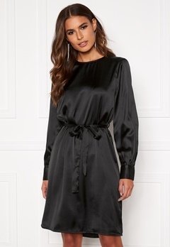 OBJECT Alina L/S Dress Black Bubbleroom.fi