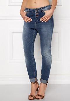 OBJECT Ally Antifit 467 Jeans Dark Blue Denim Bubbleroom.fi