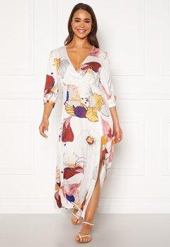 OBJECT Amira 3/4 Long Dress Gardenia AOP Bubbleroom.fi