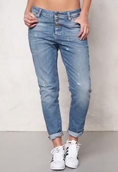 OBJECT Antifit Ally Zip Jeans Medium Blue Denim Bubbleroom.fi