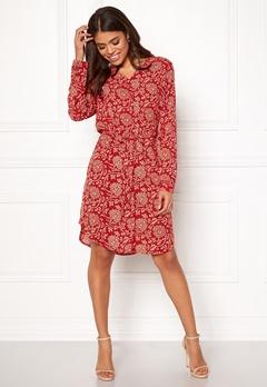 OBJECT Apala L/S Shirt Dress Haute Red Bubbleroom.fi