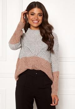 OBJECT Aya Love LS Knit Pullover Gardenia Bubbleroom.fi