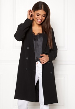 OBJECT Beau Long Coat Black Bubbleroom.fi