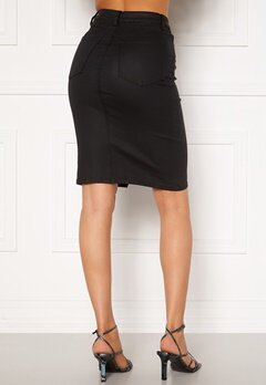 OBJECT Belle Supercoated Slit Skirt Black Bubbleroom.fi