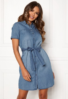 OBJECT Camilla 2/4 Dress Medium Blue Denim Bubbleroom.fi