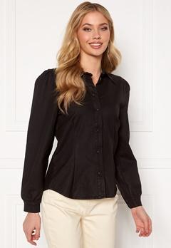 OBJECT Carla Coated Shirt Black Bubbleroom.fi