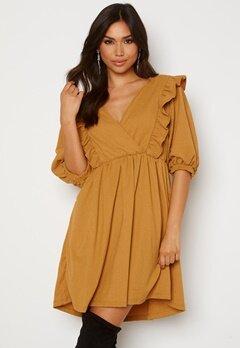 OBJECT Carolyn S/S Dress Honey Mustard Bubbleroom.fi