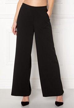 OBJECT Cecilie Wide Leg Pant Black Bubbleroom.fi
