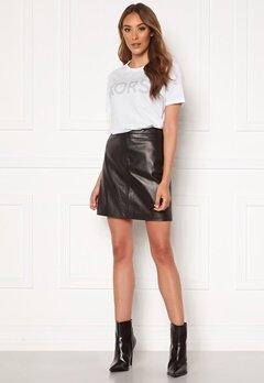 OBJECT Chloe Leather Skirt Black Bubbleroom.fi