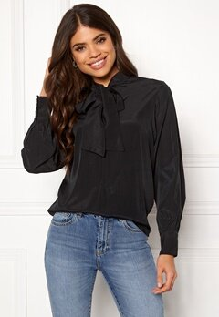 OBJECT Cinna L/S Bow Top Black Bubbleroom.fi
