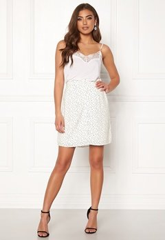 OBJECT Clarissa Short Skirt Gardenia/Dots Bubbleroom.fi