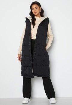 Object Collectors Item Aria S/L Hoodie Vest Black/Sandshel bubbleroom.fi
