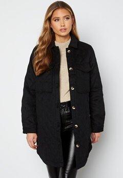 Object Collectors Item Vera owen long quilt jacket Black Bubbleroom.fi