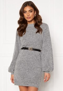 OBJECT Eve Nonsia Knit Dress Light Grey Melange Bubbleroom.fi