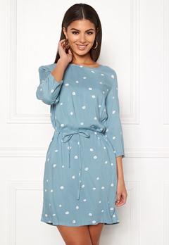 OBJECT Evie Vera Dress Stone Blue Bubbleroom.fi